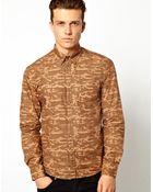 Asos Dansk Shirt with Camo Overprint - Lyst