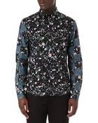 McQ by Alexander McQueen Floral Check Shirt - Lyst