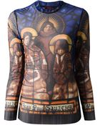 Jean Paul Gaultier Icon Print Sheer Top - Lyst