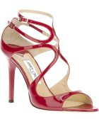 Jimmy Choo Lang Patent Sandal - Lyst