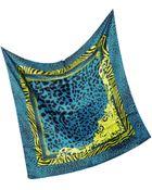 Versace Animal Print Silk Square Scarf - Lyst