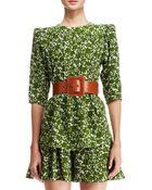 Michael Kors Floral-Print Silk Top - Lyst