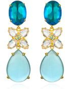 Bounkit Blue Quartz & White Topaz Drop Earrings - Lyst