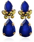 Bounkit Faceted Lapis & Peridot Earrings - Lyst