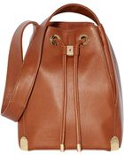 Vince Camuto Janet Leather Drawstring Tote Bag - Lyst
