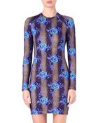 Christopher Kane Floral Stretch Jersey Dress - Lyst