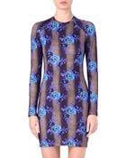 Christopher Kane Floral Stretch Jersey Dress - Lyst