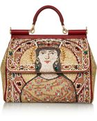 Dolce & Gabbana The Sicily Large Embroidered Tote - Lyst