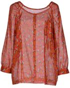 M. Grifoni Denim Long Sleeve Shirt - Lyst
