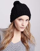 Hat Attack Rabbit-Pom Cable Knit Cap - Lyst