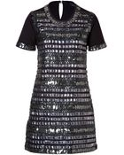 Anna Sui Geometric Dress In Black - Lyst