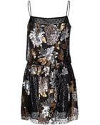 Anna Sui Nuits Dress in Black Multi - Lyst