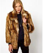 Asos Vintage Faux Fur Coat - Lyst