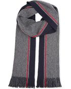 Hugo Boss Striped Wool Scarf - Lyst