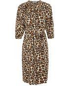 Tucker Leopard Print Stretch Silk Dress - Lyst