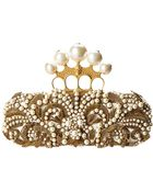Alexander McQueen Seasonal Knuckle Box Clutch Skull Long Scamosciato - Lyst