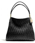 Coach Madison Small Phoebe Shoulder Bag in Gathered Twist Leather - Lyst