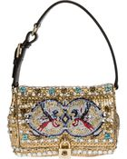 Dolce & Gabbana Mosaic Beaded Shoulder Bag - Lyst