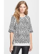 Marc By Marc Jacobs Sasha Zip Detail Animal Pattern Sweater - Lyst