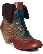 Poetic Licence Afternoon Tea Lace Up Booties - Lyst