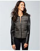 Ellen Tracy Faux Leather Jacket - Lyst