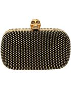 Alexander McQueen Gold Stud Box Clutch With Strap - Lyst