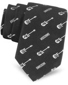 Moschino Narrow Electric Guitar Woven Silk Tie - Lyst