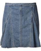3.1 Phillip Lim Peplum Flare Skirt - Lyst