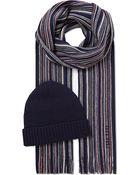 Hugo Boss Fadi Striped Hat and Scarf Set - Lyst