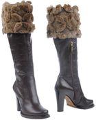 Bruno Magli Highheeled Boots - Lyst