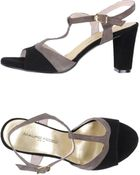 Mauro Fedeli T-Strap Mid-Heeled Sandals - Lyst