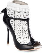 Sophia Webster Sadie Two-Tone Ankle Boots - Lyst