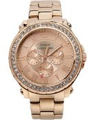 Juicy Couture Women'S Pedigree Rose Gold-Tone Stainless Steel Bracelet Watch 42Mm 1901083 - Lyst