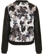 Topshop Faux Leather Bomber Jacket By Wyldr - Lyst