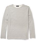 A.P.C. Striped Cotton-Jersey T-Shirt - Lyst