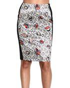 Balenciaga Skirt Satin Paisley Print + Lateral Bend - Lyst