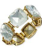 Kate Spade New York Goldtone Square Stone Hinge Bracelet - Lyst