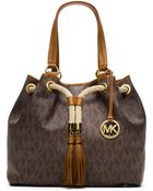 MICHAEL Michael Kors Large Marina Gathered Tote - Lyst