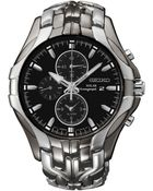 Seiko Men'S Chronograph Solar Excelsior Two-Tone Stainless Steel Bracelet Watch 43Mm Ssc139 - Lyst