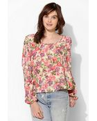 Urban Outfitters Pins and Needles Bow Back Blouse - Lyst