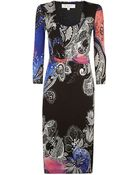 Etro Paisley Knot Dress - Lyst