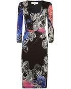 Etro Paisley Knot Dress - Lyst