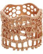 Aurelie Bidermann Rose Gold Lace Ring - Lyst