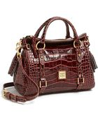 Dooney & Bourke Small Crocembossed Leather Satchel - Lyst