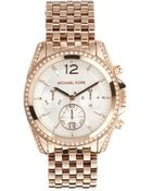Michael Kors Pressley Rose Gold Watch - Lyst