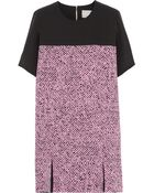 Richard Nicoll Printed Washed-Silk Mini Dress - Lyst