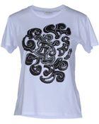 Saint Laurent Short Sleeve Tshirt - Lyst