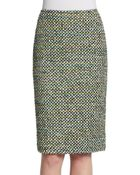 Lafayette 148 New York Tweed Woven Pencil Skirt - Lyst