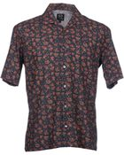 McQ by Alexander McQueen Short Sleeve Shirt - Lyst