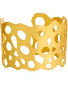 Kasturjewels 22kt Gold Brass Plated Cuff - Lyst